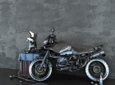 做旧摩托车  工业风