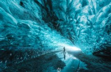 高端奢华群星般闪耀发光洞穴环境