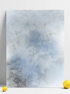 灰蓝色水彩质感泼墨中国风背景