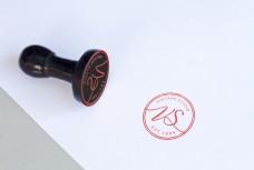 红色印章logo标志样机