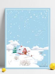 你好冬天雪地背景素材