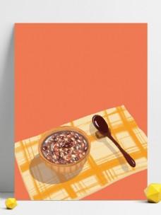 一碗美味腊八粥背景素材