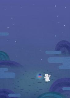 唯美蓝色星空之夜背景素材
