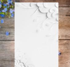 白色背景花纹
