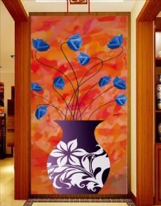 立体花卉玄关