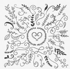 手绘花卉装饰品