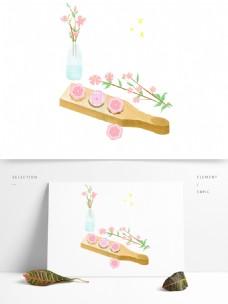 卡通手绘小清新月饼元素