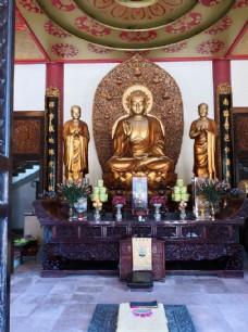 佛山仁寿寺大雄宝殿佛像