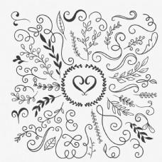 花卉装饰品背景