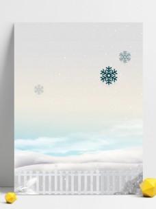 简约清新12月你好白色背景素材