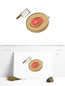 原创手绘食材肉可商用