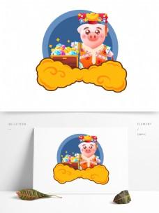 2019春节拜年生肖猪格格宝藏