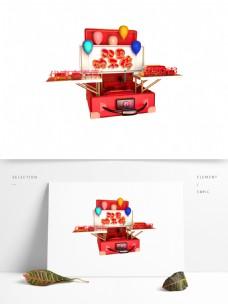 C4D艺术字促销素材双旦购不停字体元素