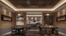 中式茶水间会议室