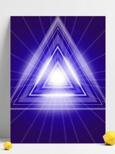 蓝紫色科技几何背景