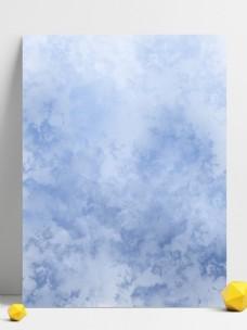 蓝色系渐变泼墨水彩质感背景