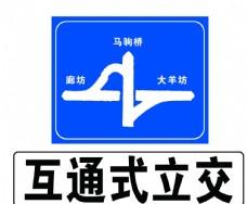 互通式立交标识标牌
