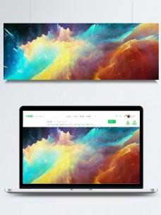 水彩3d星空质感背景素材