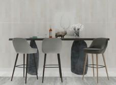 现代吧台吧椅3d组合