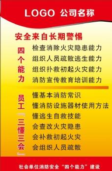 消防安全宣傳海報展板