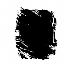 水彩黑色不规则洞口