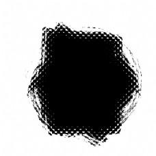 水彩不规则泼墨洞孔