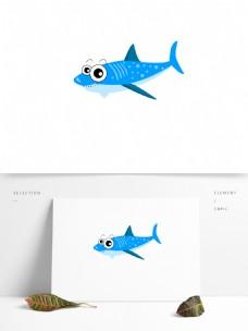 卡通可爱海底动物元素