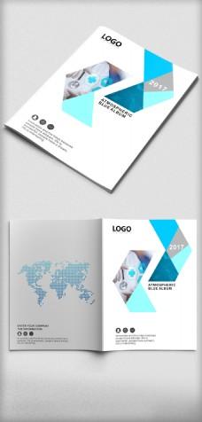蓝色时尚医院医疗科技画册封面