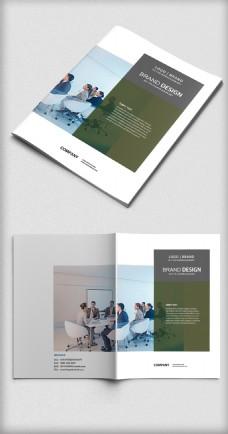 綠色高端企業畫冊封面模板