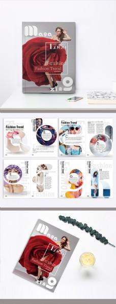 时尚创意字母写真彩妆人物服装摄影杂志设计