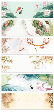 中秋节中国风淘宝海报设计背景素材
