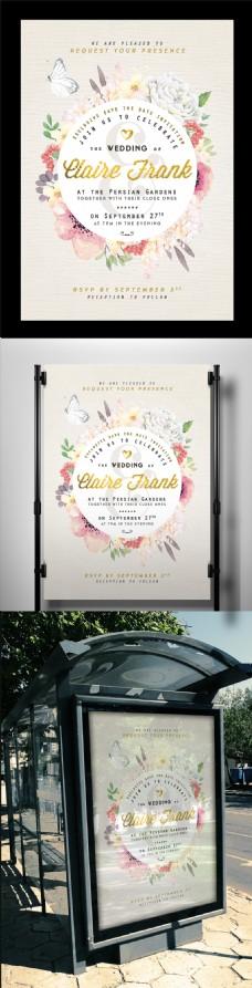 浪漫鲜花海报设计