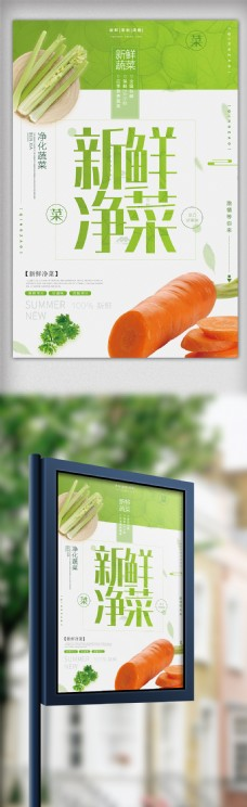 创意时尚净菜宣传海报模板