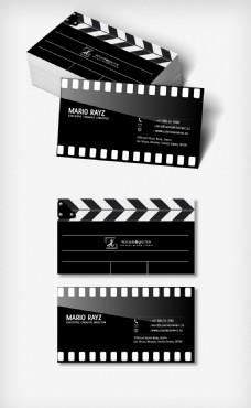 黑色打印摄影名片模板