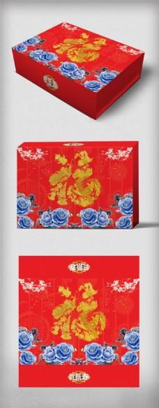 中国风背景春节送礼礼盒包装设计