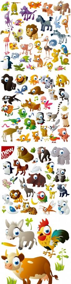 多款可爱卡通动物图标素材