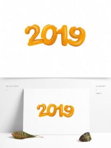 卡通2019艺术字设计