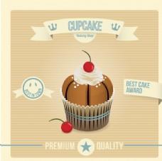 复古蛋糕海报