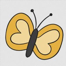 透明底蝴蝶