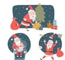创意圣诞老人场景