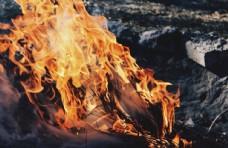 燃烧的木材