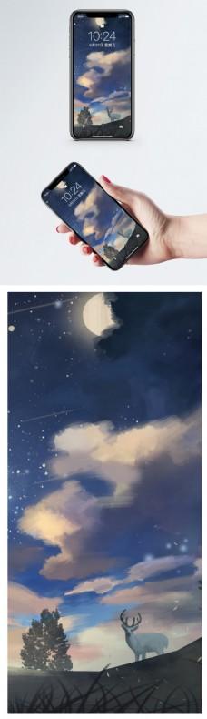 插画星空手机壁纸