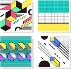 手绘几何图形背景底纹矢量素材