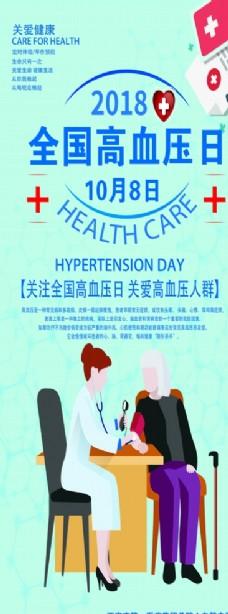 全国高血压日展架