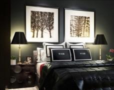 精品床卧室3d模型