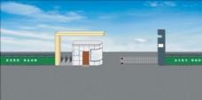 大门设计 室外模型