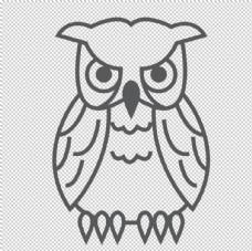 卡通猫头鹰