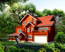 别墅源于生活红房子