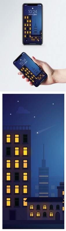 夜晚城市手机壁纸