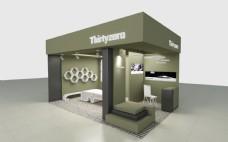 现代简约日系展台展厅设计3Dmax模型